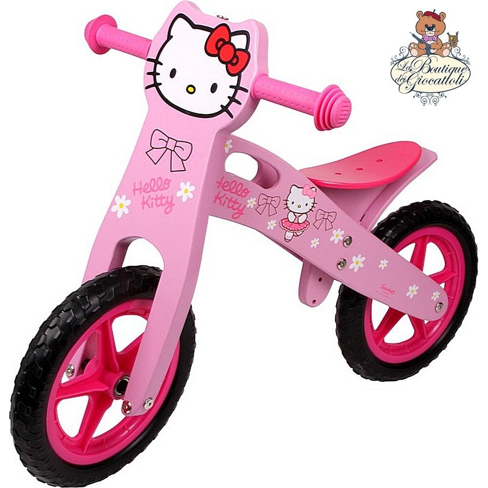 Gioco In Legno Primi Passi Bicicletta Senza Pedali Hello Kitty